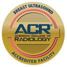 American College of Radiology - Breast Ultrasound Accredited Facility Logo