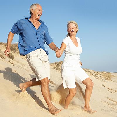 Senior Couple Enjoying Beach