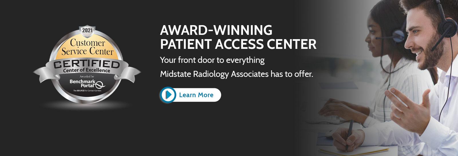 Award Winning Patient Access Center